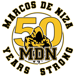 Marcos de Niza 50th Year Logo