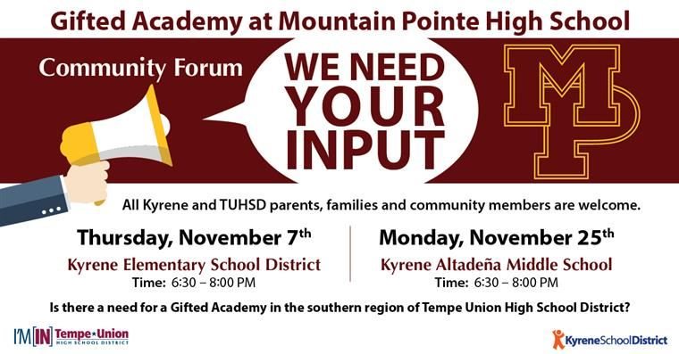 Community Forum: Mountain Pointe Gifted Academy