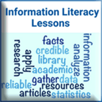 Info Literacy Lessons button
