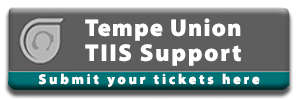 TUHSD TIIS Support Ticket System Button