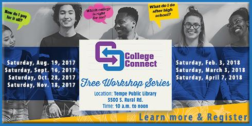 College Connect Workshops through City of Tempe Button