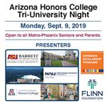 AZ Honors College Tri University Night image of flyer