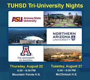 Tri University Nights, Image of ASU, NAU, & UofA campus