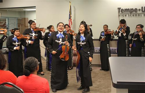 Mariachi de Tempe performs at TUHSD Governing Board Meeting