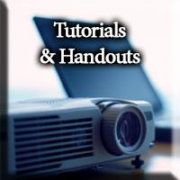 Tutorials and Handouts button
