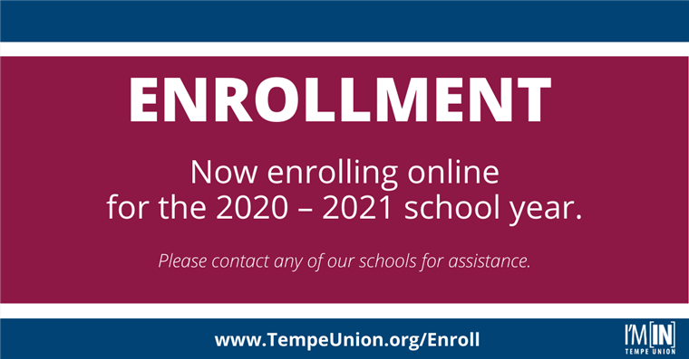 Enrollment. Now enrolling online for the 2020 - 2021 School Year.