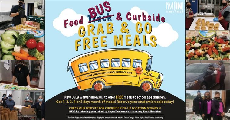*NEW* Reserve Free Grab & Go School Meals Offered Curbside!