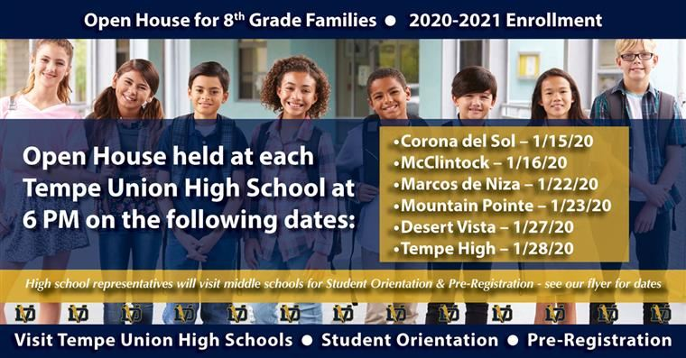 Open House for 8th Grade Families