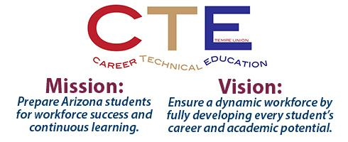 CTE Mission and Vision Statements: Ensure a dynamic workforce by fully developing every student's career and academic potential.