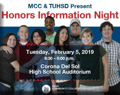 Honors Information Night group of MCC students