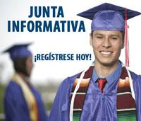 Junta Informativa Registrese Hoy, boy in cap and gown