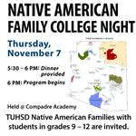 Native American Family College Night Nov. 7 @ Compadre Academy