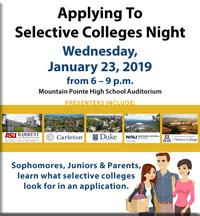 Selective College Night button to flyer