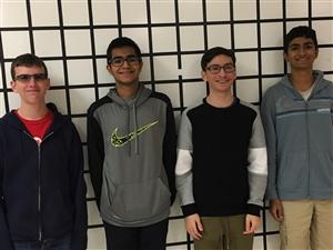 CDS Quiz Bowl A Team: Harrison Bradley, Sameer Vij, Daniel Farr, Vinay Pattalachinti