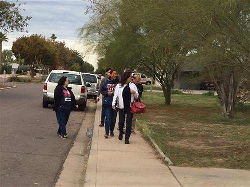 McClintock's We Want You Back team knocks on doors