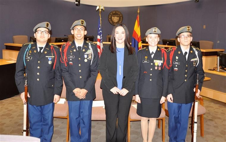 TUHSD JROTC Color Guard & Judge Erin Otis