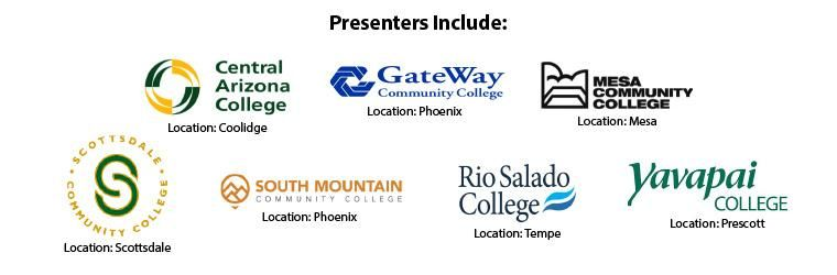 7 presenters logos - local az community colleges