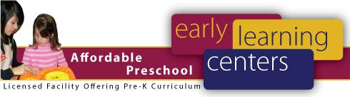 Early Learning Centers Banner